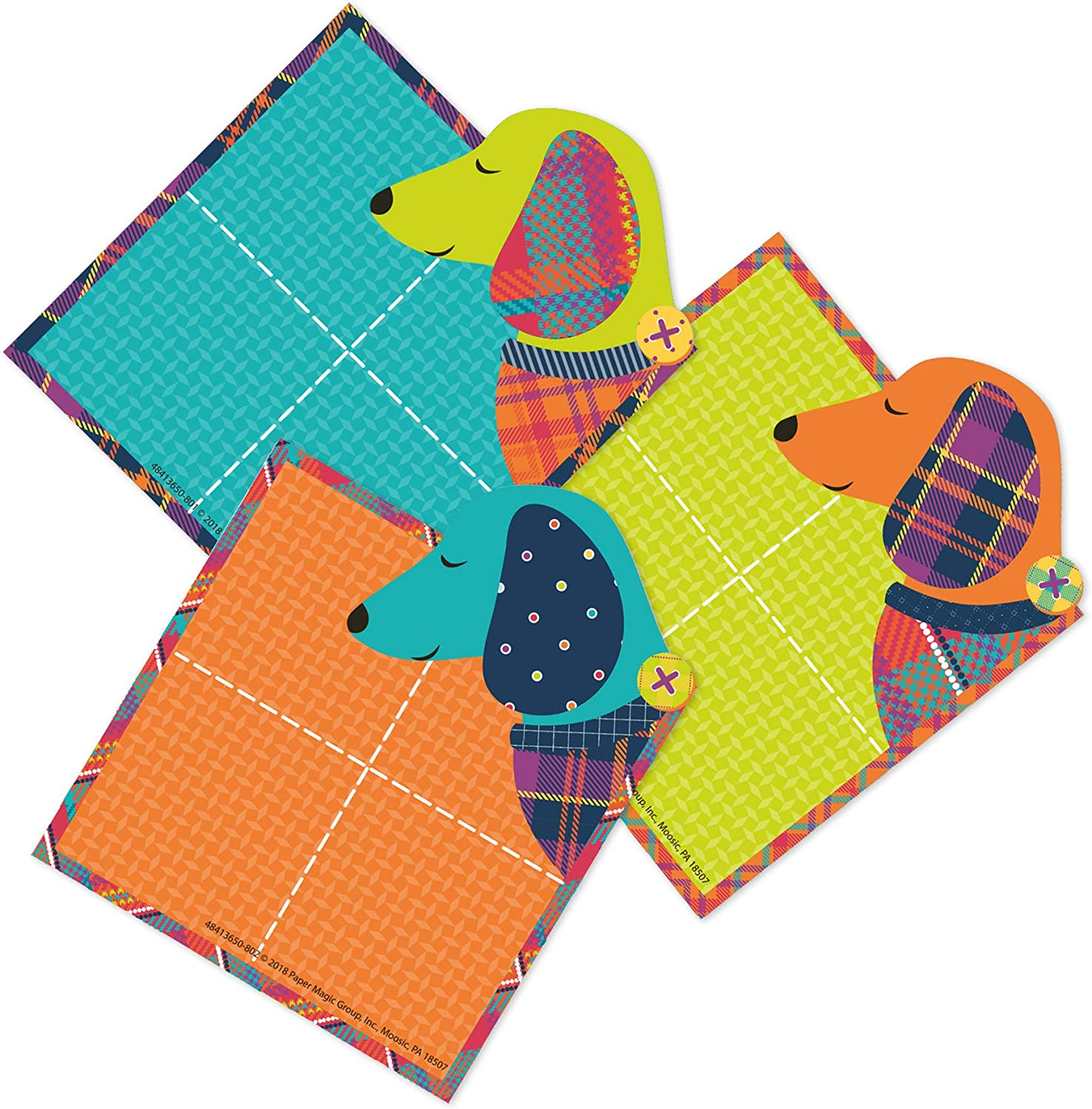 Eureka Multicolor Plaid Dog Themed Square Bulletin Board and Classroom Decorations, 36pcs, 5.5'' x 5.5''