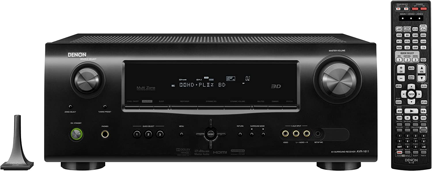 Amazon Com Denon Avr 1611 7 1 Channel A V Home Theater Receiver Black Discontinued By Manufacturer Home Audio Theater