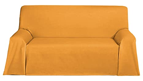 Martina Home Foulard, Tela, Mostaza, 230 x 270 cm