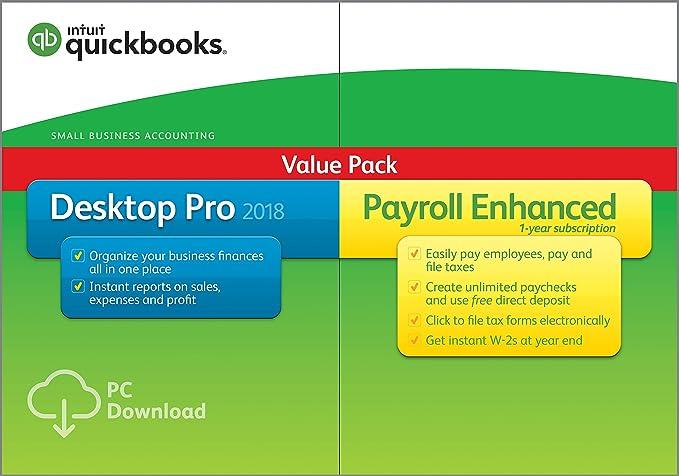QuickBooks Desktop Pro 2018 with Payroll Enhanced [PC Online Code] [OLD  VERSION]