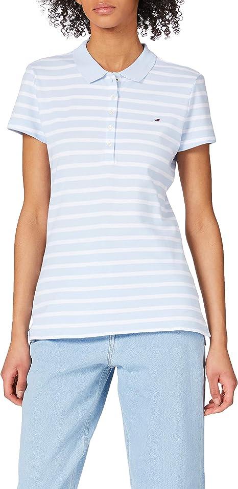 Tommy Hilfiger Short Sleeve Slim Polo T-Shirt Femme