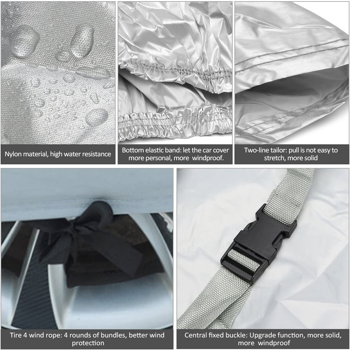 All Weather Indoor Outdoor Car Cover SUV Cover Waterproof//Windproof//Dustproof Resistant Heat,Rain,Snow,Dust,Ice Full Car Cover For Sportage 2012 2013 2014 2015 2016 2017 2018 2019 2020 2021
