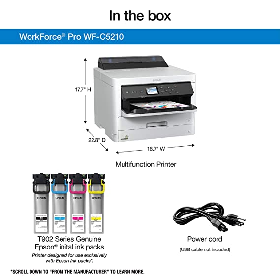 Amazon.com: Epson WorkForce Pro C5210: Office Products