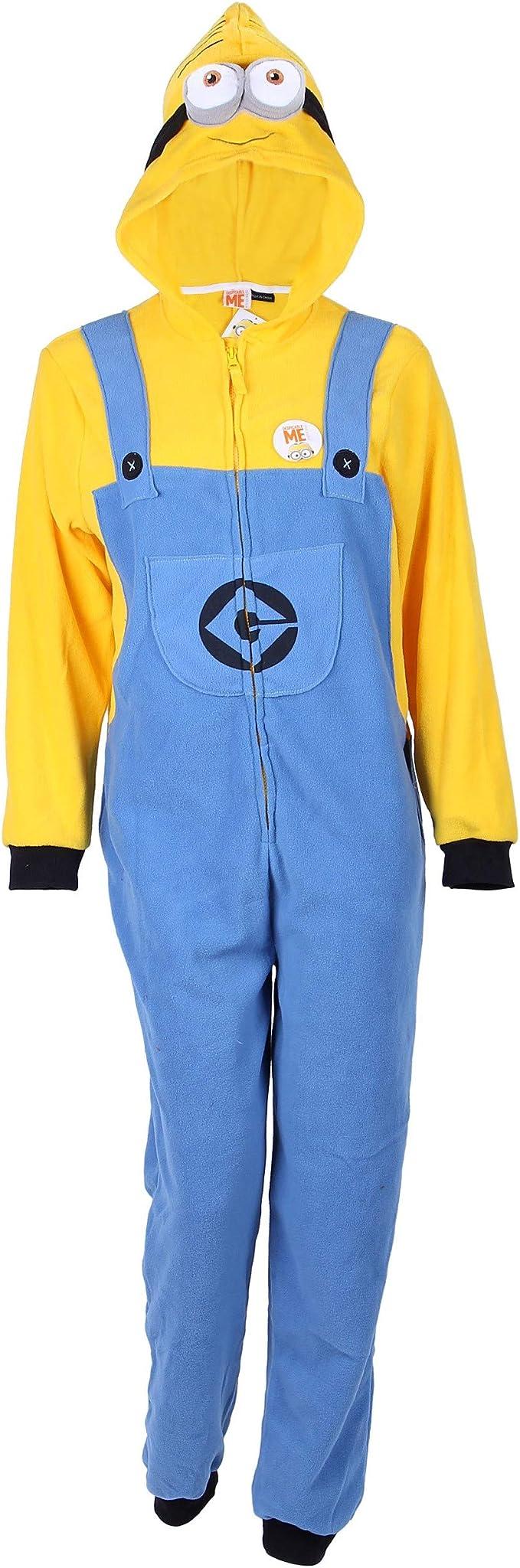 Primark - Pijama de una Pieza - para Hombre Blue - Yellow Small ...
