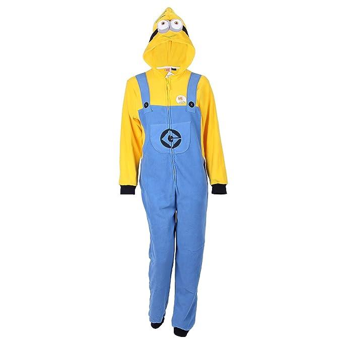 Primark - Pijama de una Pieza - para Hombre Blue - Yellow Small