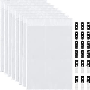 Meetory 12 pcs Blank Garden Flags, DIY Flag Solid White Flag with 6 Pairs Anti-Wind Clips for Patio Garden Yard Indoor Outdoor Party Decoration Single Side, 18 x 12 Inch