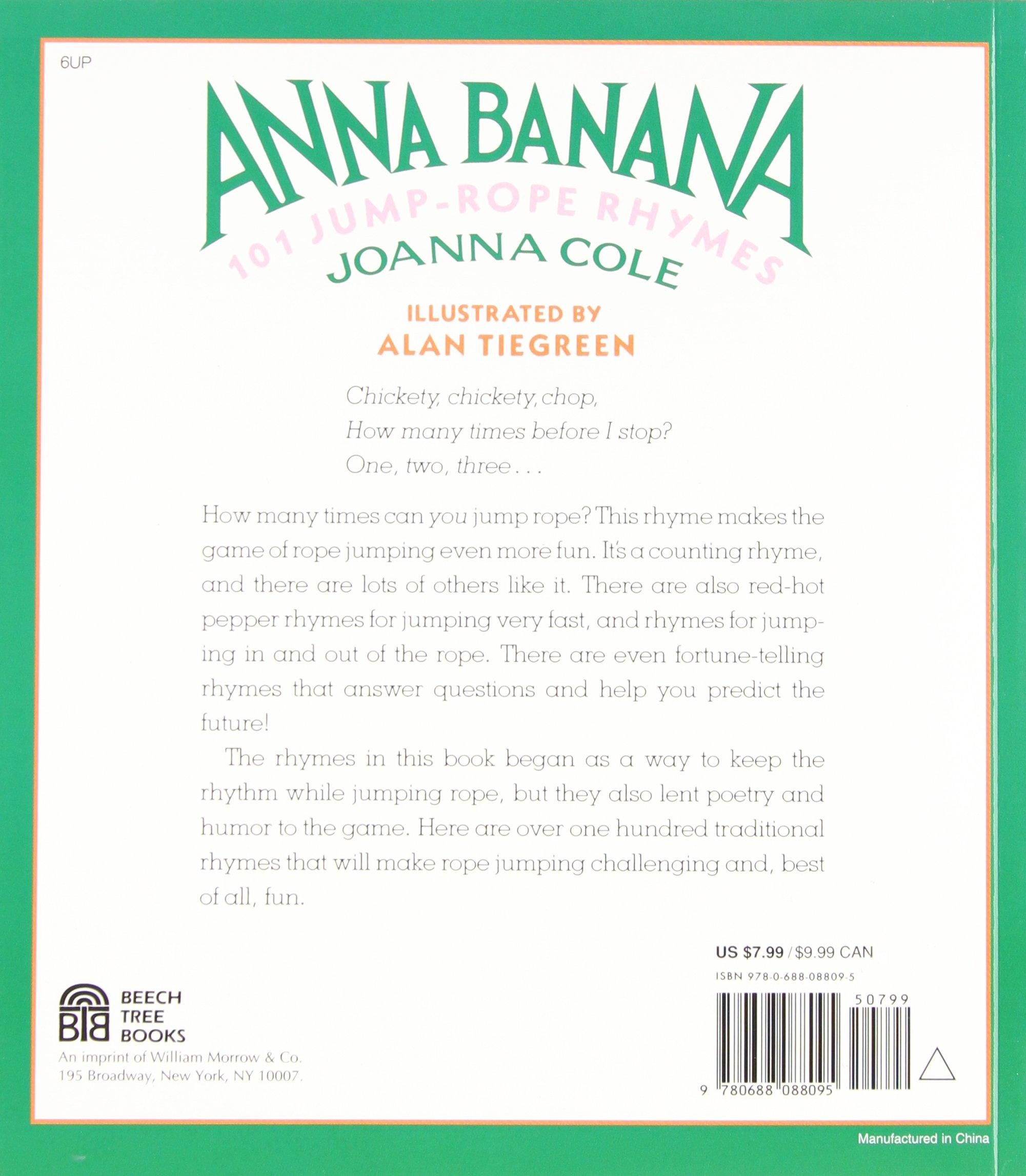 Anna Banana: 101 Jump Rope Rhymes: Joanna Cole, Alan Tiegreen ...