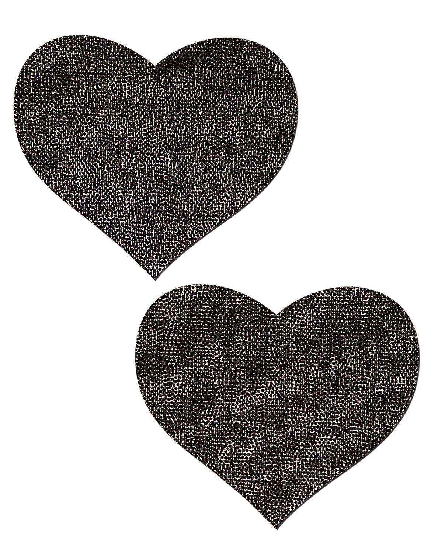 Love: Liquid Black Heart Nipple Pasties by Pastease® o/s HRT-LQ-BK