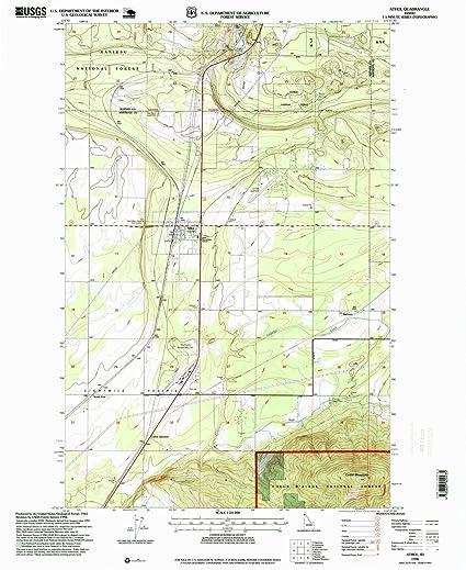 Amazon Com Yellowmaps Athol Id Topo Map 1 24000 Scale 7 5 X 7 5