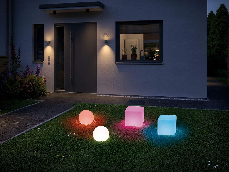 Paulmann 79851 Num/éro de maison solaire LED 0 IP44 Blanc chaud Batterie interchangeable incluse 1 x 0,2 W Lampe solaire noire en plastique 3000 K