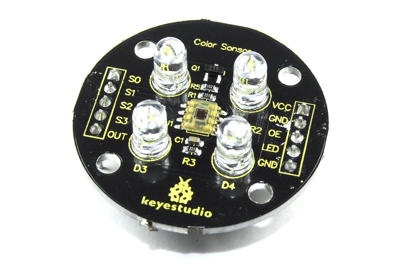 Keyestudio Tcs3200/module de d/étecteur de couleur Ks-053/Couleur de lumi/ère Arduino