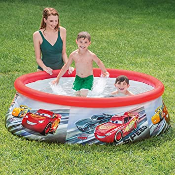 Intex 28103NP - Piscina hinchable Cars 183 x 51 cm, 886 litros