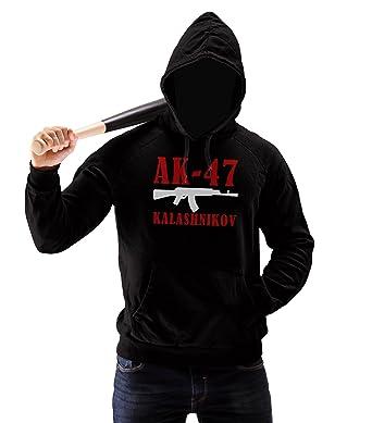 Russian Gangster AK 47 Kalashnikov Mens Pullover Hoodie XXL