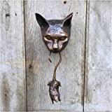 Blekii Door Knocker, Unique Cat and Mouse Front Door Entry Animal Knocker Gorgeous Cat & Mouse Wall Hangings Statue…