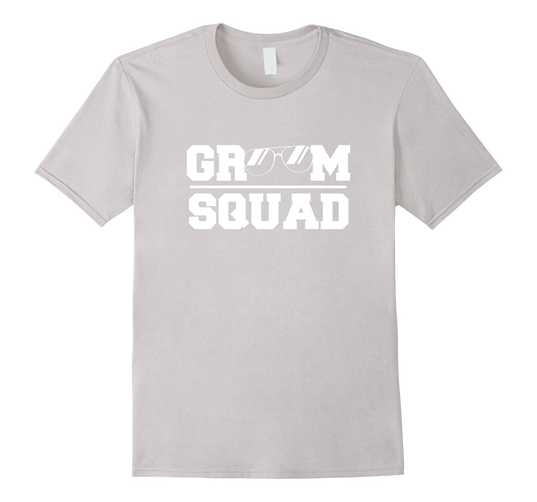 Mens Groomsmen T-shirt  Groom Squad Cool Sunglass-RT