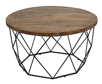 Surprising Amazon Com Benjara Bm195730 Mango Wood Round Coffee Table Andrewgaddart Wooden Chair Designs For Living Room Andrewgaddartcom