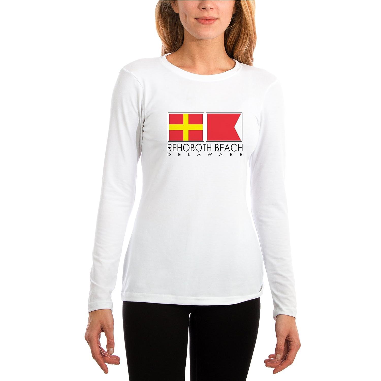 Altered Latitudes Rehoboth Beach Nautical Flags Slim Fit Performance Shirt