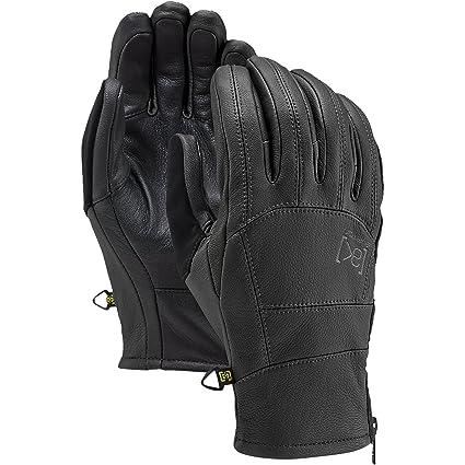 Burton AK Leather Tech Gloves, True Black, X-Small
