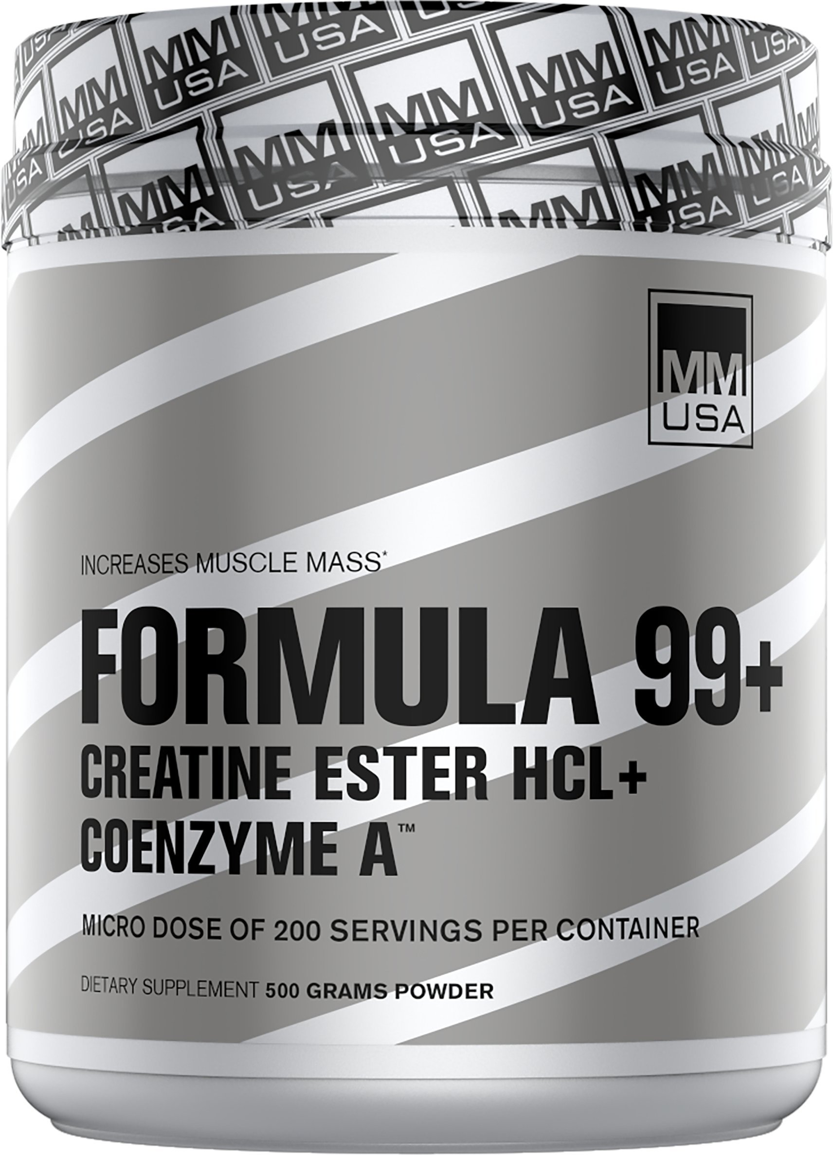 MMUSA Formula 99+ CREATINE Ester HCL Power ACCELERANT Blend, 800g. 200 Doses