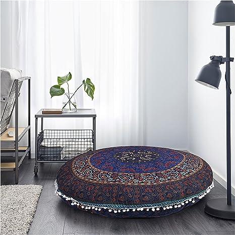 Cojín de suelo puf infantil, diseño de Mandala Hippie, rosa ...