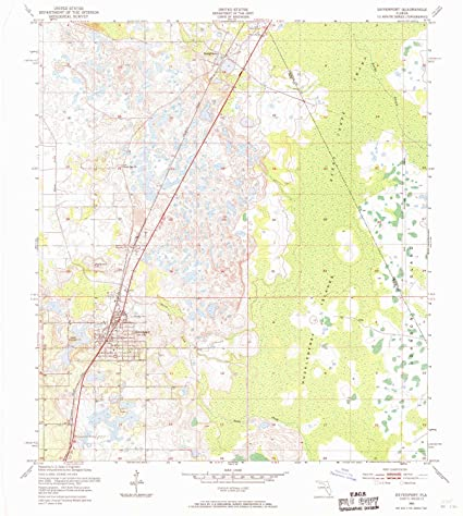Amazon.com : YellowMaps Davenport FL topo map, 1:24000 Scale, 7.5 X on
