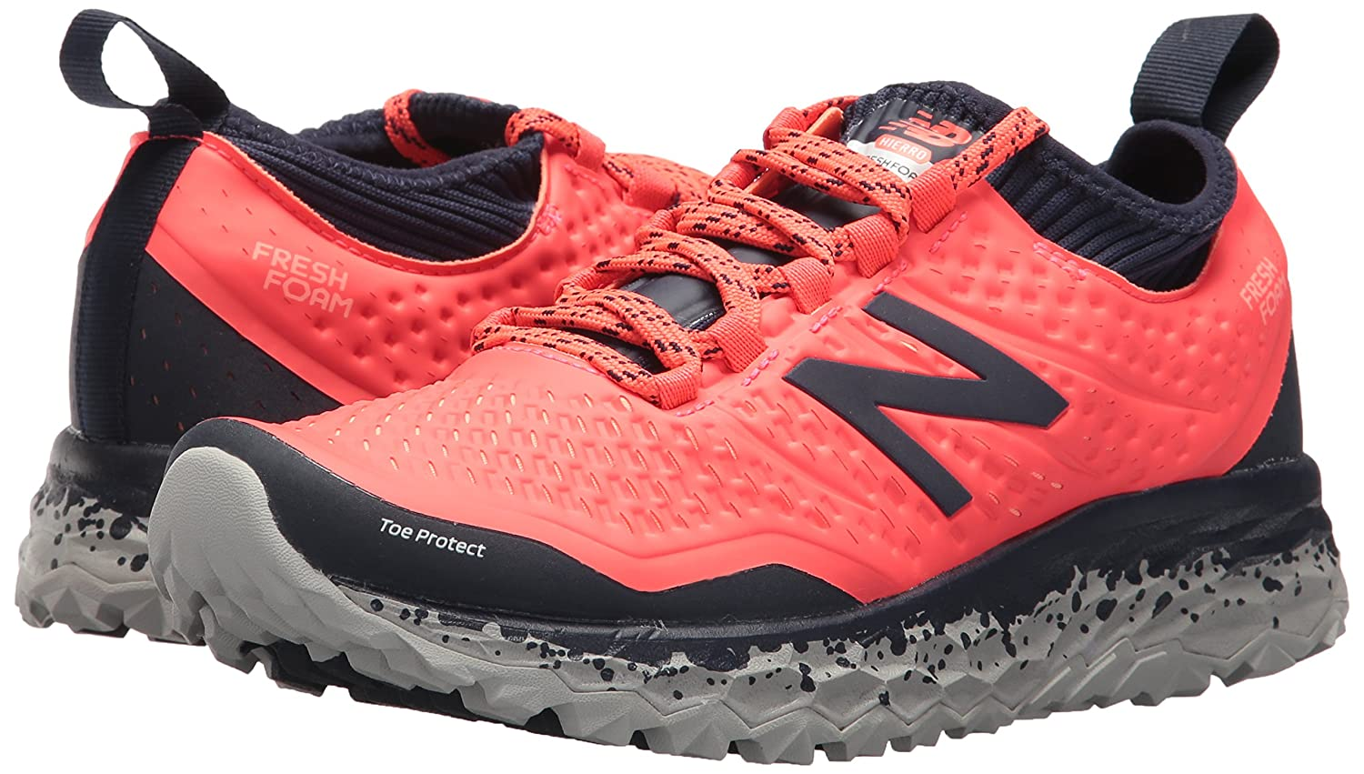 New Balance Women's Hierro V3 Trail Running Shoe Coral/Pigment B06XSD6DN5 8 D US|Vivid Coral/Pigment Shoe 11a49b