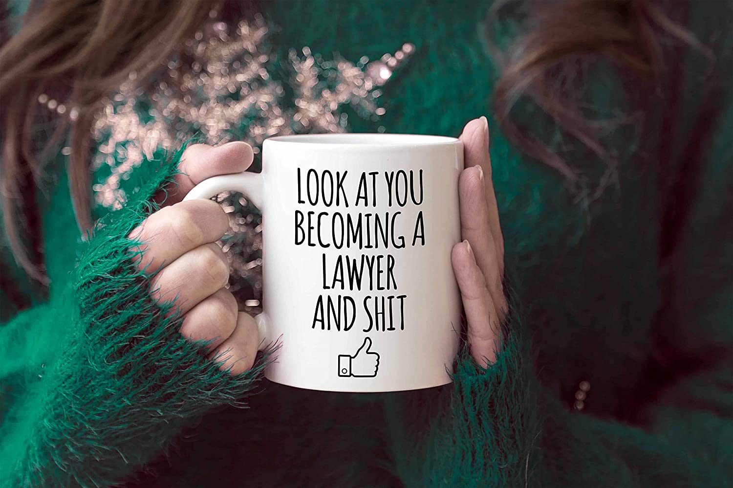 Law School Graduation Gifts Look At You Becoming A Lawyer And Shit Coffee Mug Lawyer Graduates Funny Grad Diploma or Academic Degree Congratulations LSAT Coffee Mug School Students Class of 2019