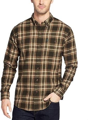 Mens Big and Tall Fireside Flannels Long Sleeve Button Down Shirt Bass /& Co G.H
