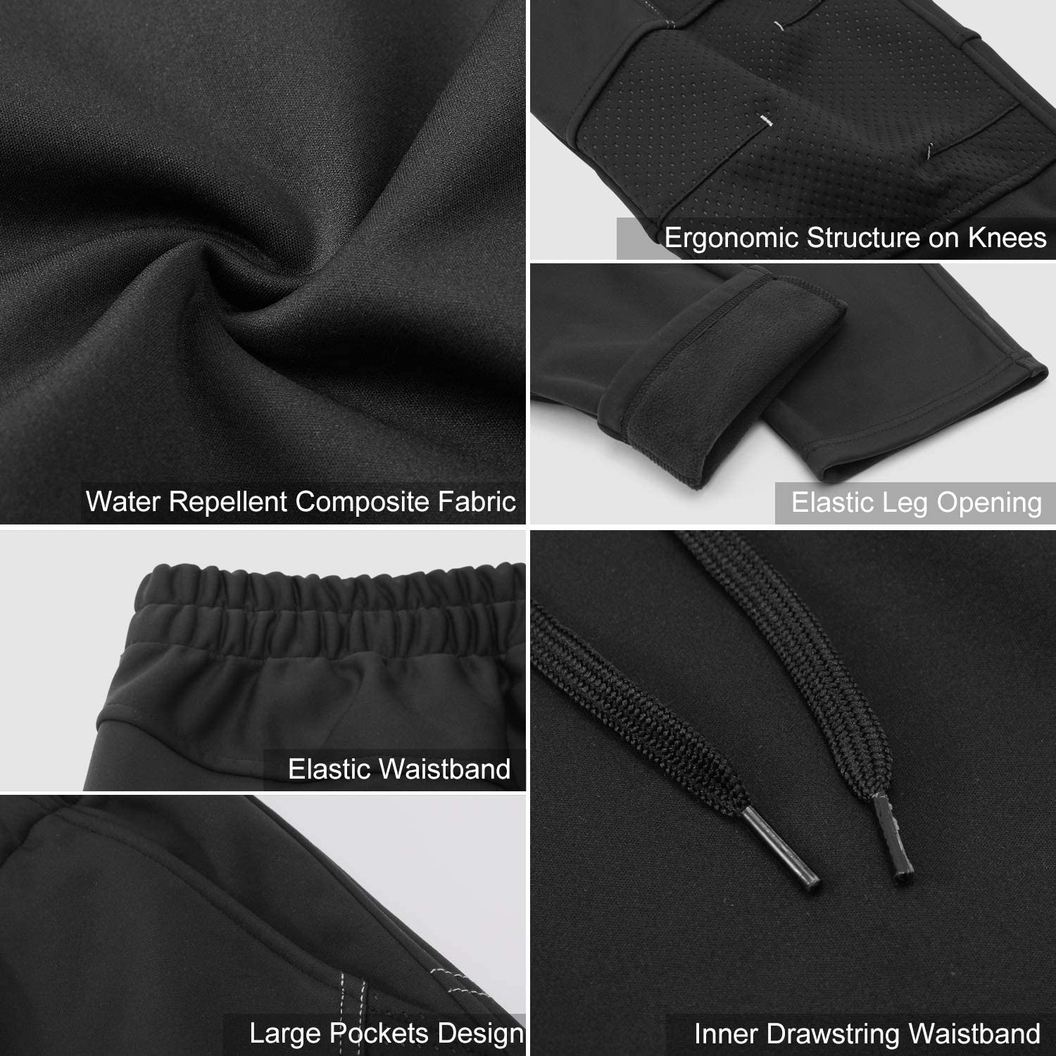 INBIKE Winter Fleece Windproof Thermal Pants for Cycling Running Hiking Outdoor Multi Sports