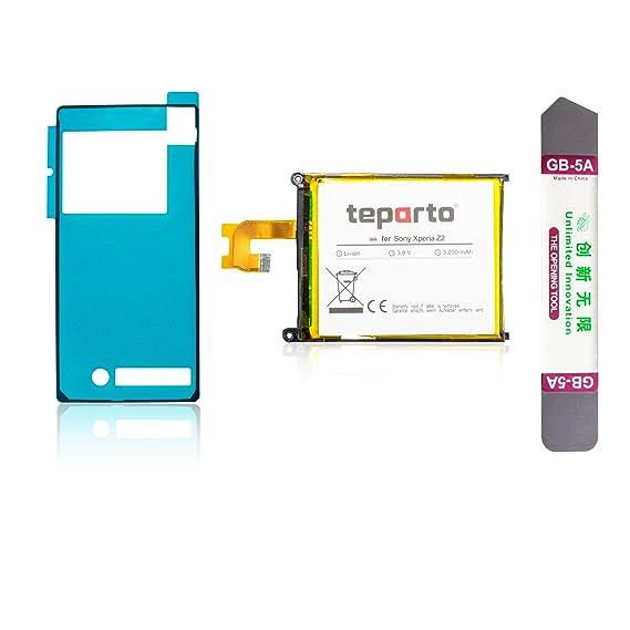 teparto Akku für Sony Xperia Z2 inkl. Kleber für Backcover und Öffnungswerkzeug