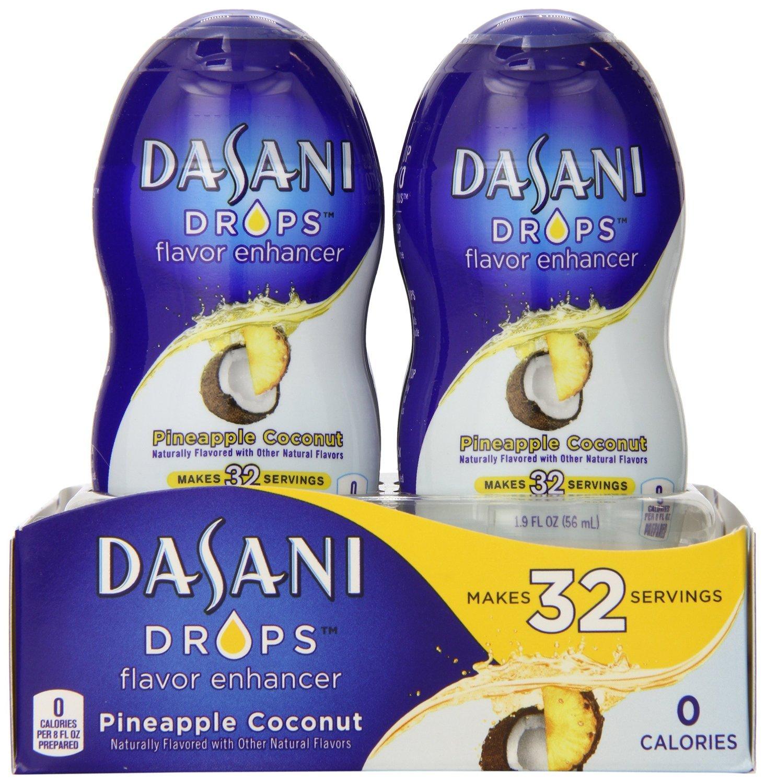 Dasani DROPS Pineapple Coconut, 6 ct, 1.9 FL OZ Bottle