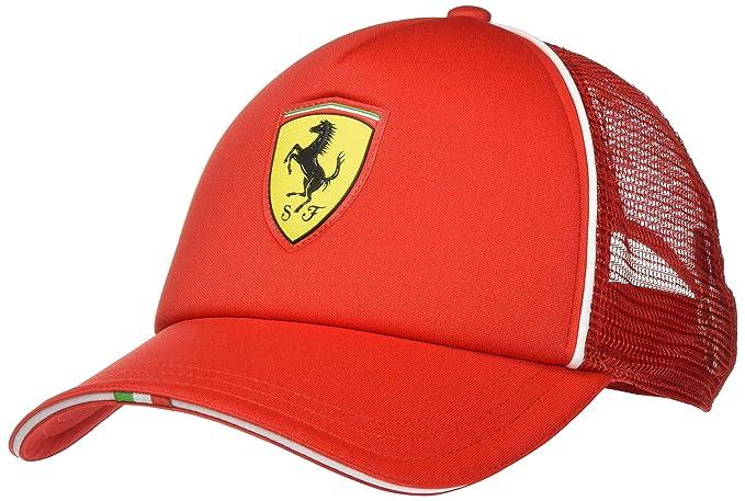 PUMA Ferrari Fanwear Trucker Cap Gorra, Hombre, Rosso Corsa, Adult ...