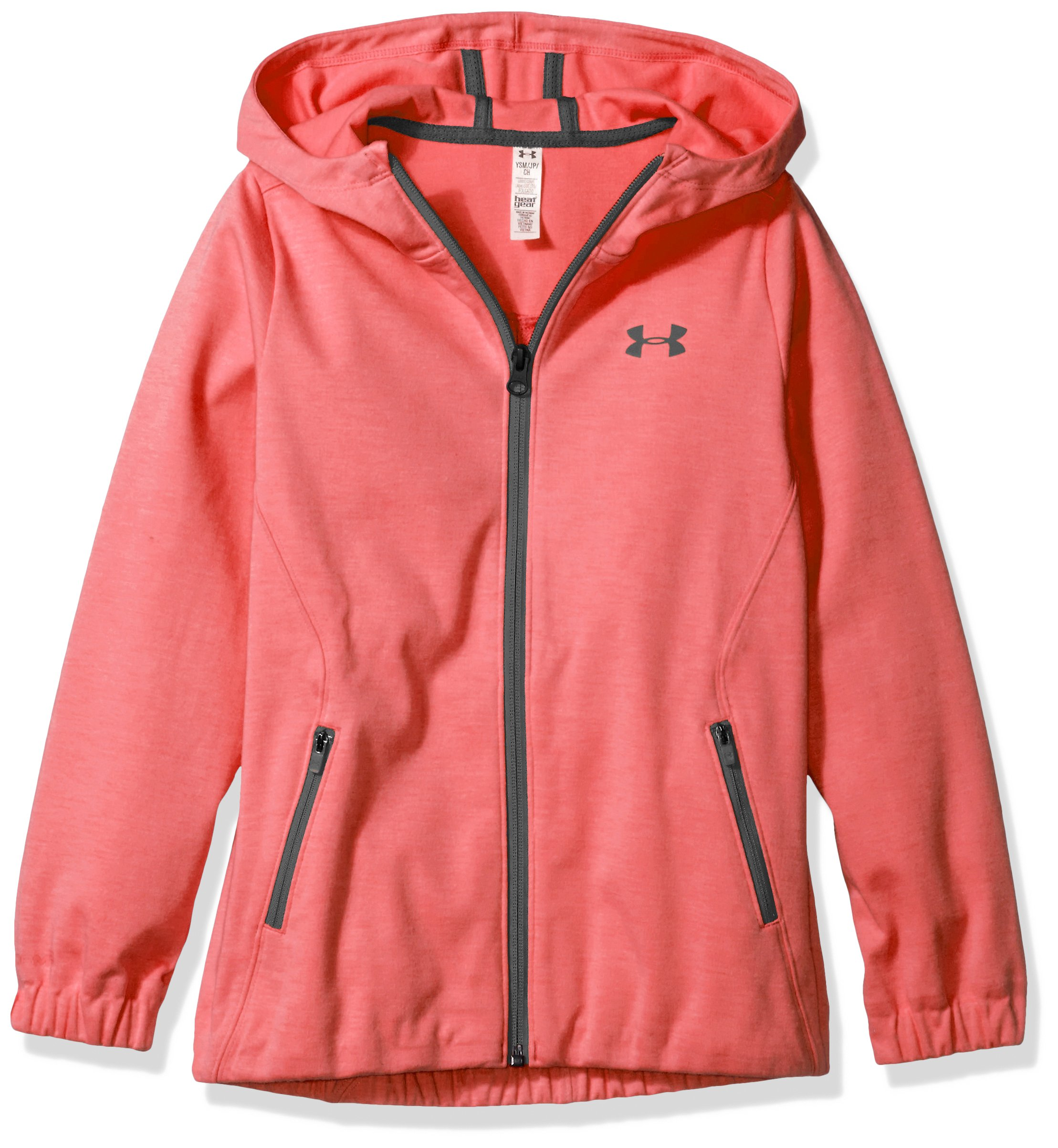 Under Armour Girls' Spring Swacket, Gala /Rhino Gray, Youth Large by Under Armour