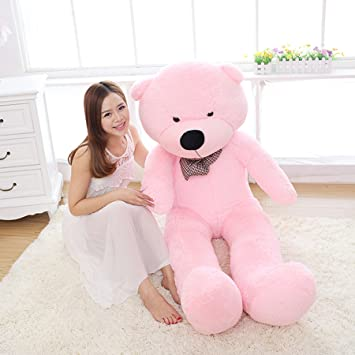Amazon.com: MorisMos Giant Cute Soft Toys Teddy Bear for Girlfriend Kids Teddy Bear (Pink, 55 Inch): Toys & Games