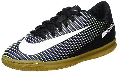 new arrival dbe6d e5972 Nike Unisex-Kinder Mercurial Vortex III IC Fußballschuhe Schwarz  (Black/Wht-Elctrc