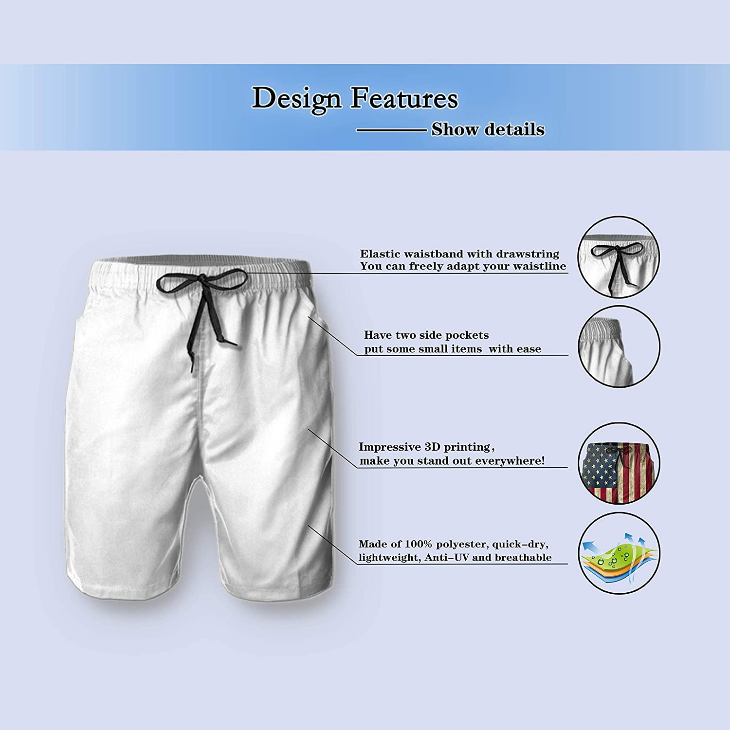 Classic Casual Fit Toomny Men Shorts Comfortable Stretch /¨C Everyday Essential/¨C Shorts/¨C Summer Beach ShortsXL