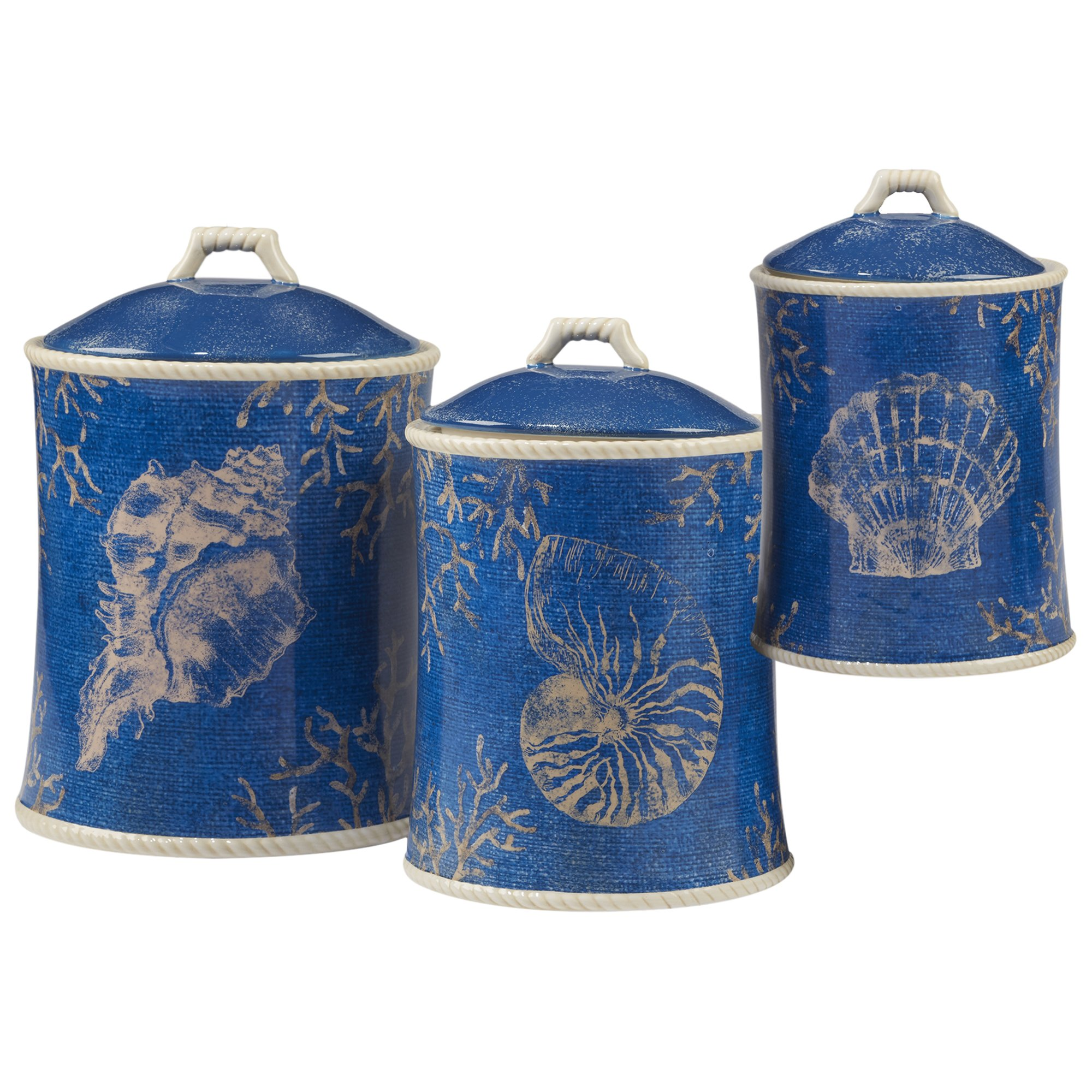 Certified International Corp 23929 Seaside 3 piece Canister Set Multicolor