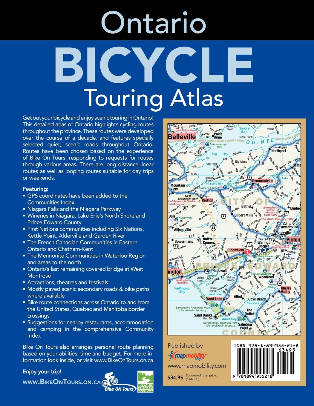 Ontario cycling atlas route master 9781894955218 amazon books fandeluxe Images