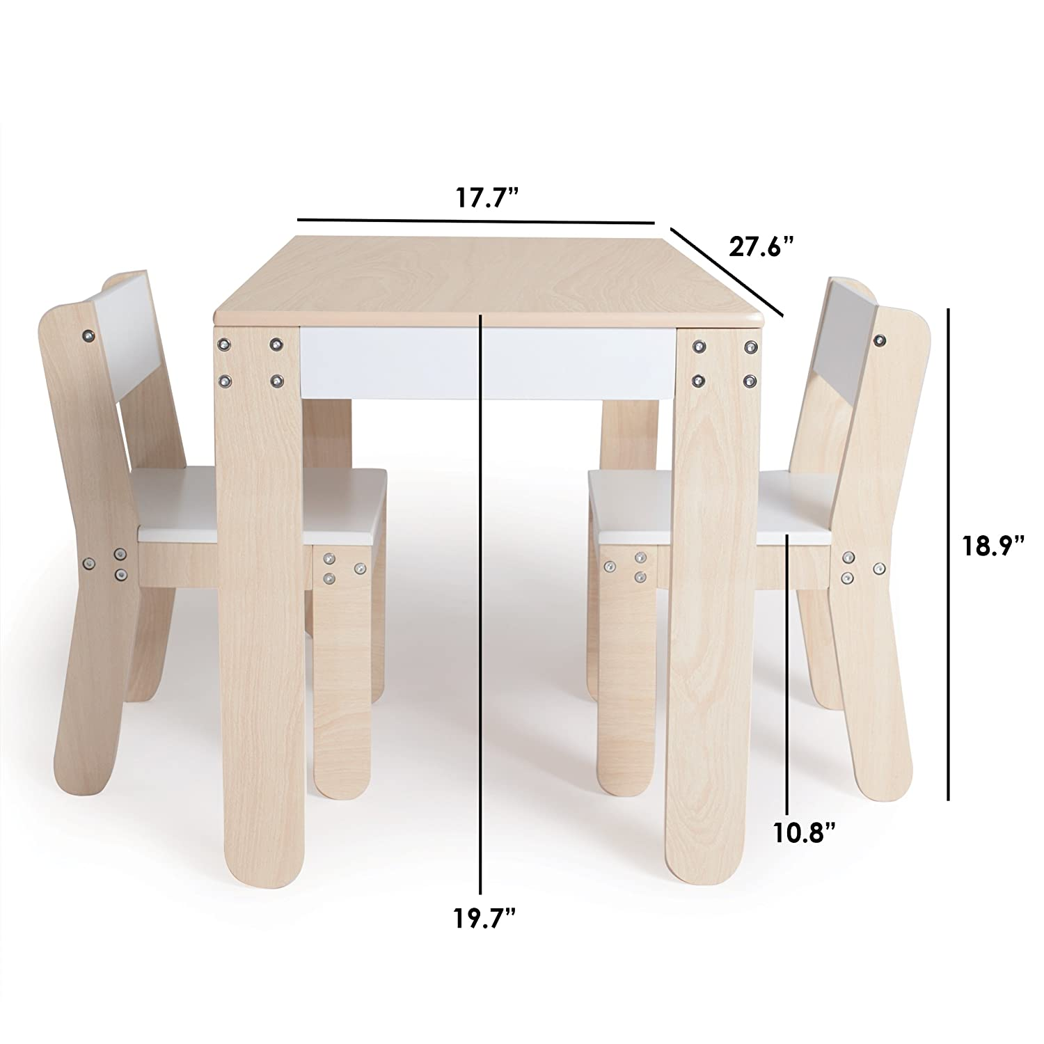 Amazon P kolino Little e s Table and Chairs White