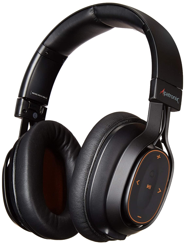 Alpatronix HX101 Bluetooth Wireless Headphones with High Definition, Deep Bass, Noise Isolation, Built-in Mic, Volume & Playback Controls, aptX & CVC 6.0 (Black)