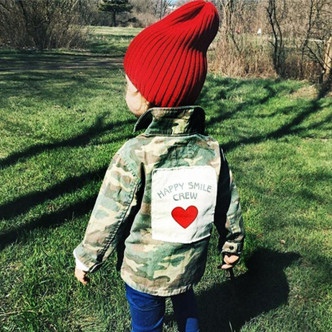 Babykleidung,Sannysis Baby M/ädchen Junge Camouflage Letter Denim Mantel Umhangjacke Dicke Kleidung 2-6Jahre