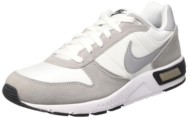 Nike Nightgazer Zapatillas de Running, Hombre 40 EU Blanco / Gris / Negro (White / Wolf Grey-black)