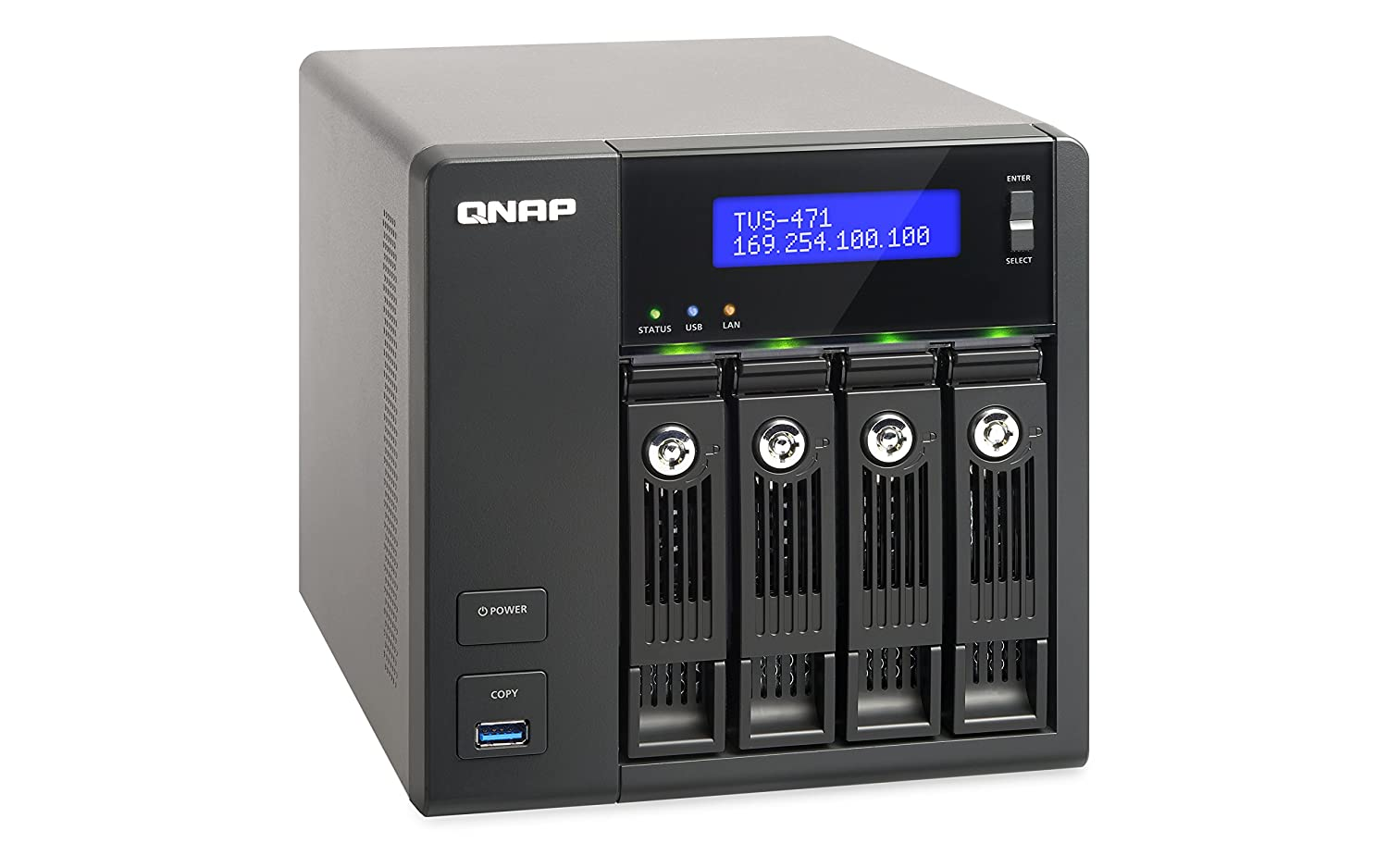 Amazon.com: QNAP TVS-471-i3-4G-US 4-Bay Intel Core i3 3.5GHz Dual Core, 4GB  RAM, 4LAN, 10G-ready (TVS-471-i3-4G-US): Computers & Accessories