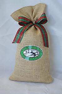 Fiddyment Farms 1 Lb Lightly Salted Pistachios in Beige Burlap Bag