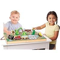 Melissa and Doug MD30140 Take-Along Railroad Play Set (17 Pieces),1 EA,Multicolor