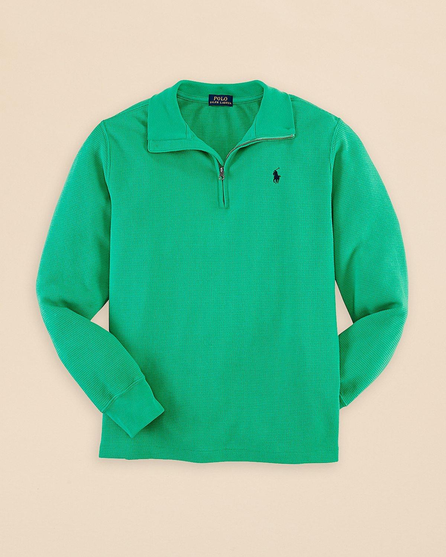 Ralph Lauren niños de punto superior algodón de puente wafle verde ...