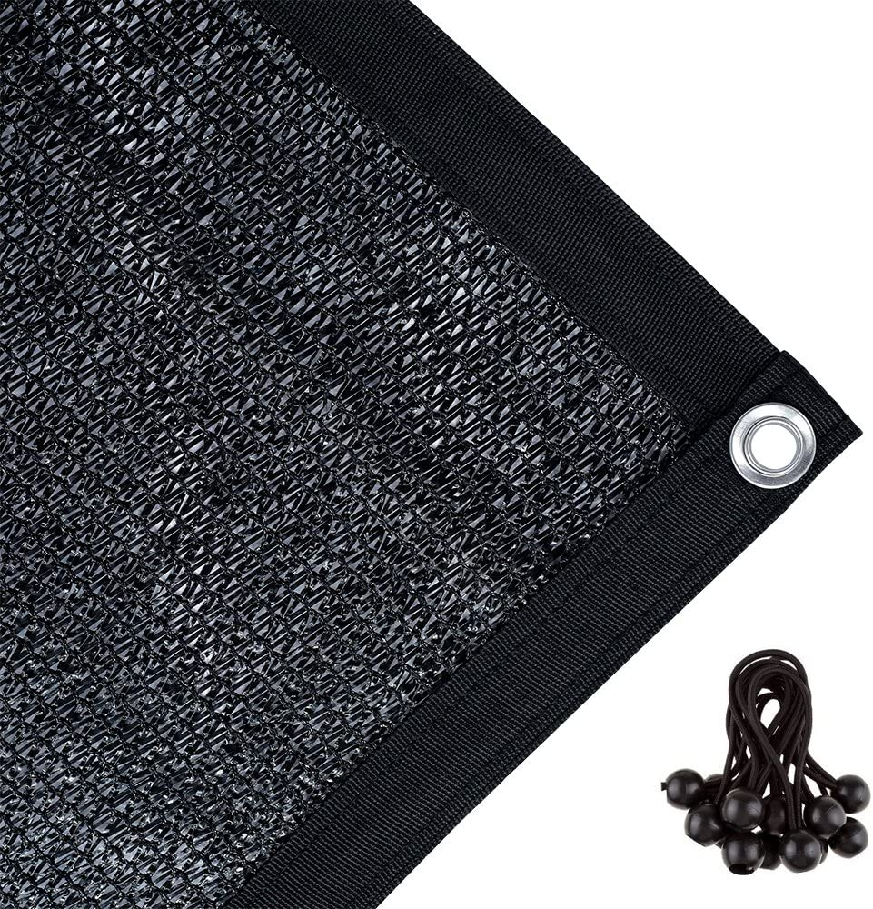 Agfabric 70 Sunblock Shade Cloth with Grommets for Garden Patio 11 X 17 , Black