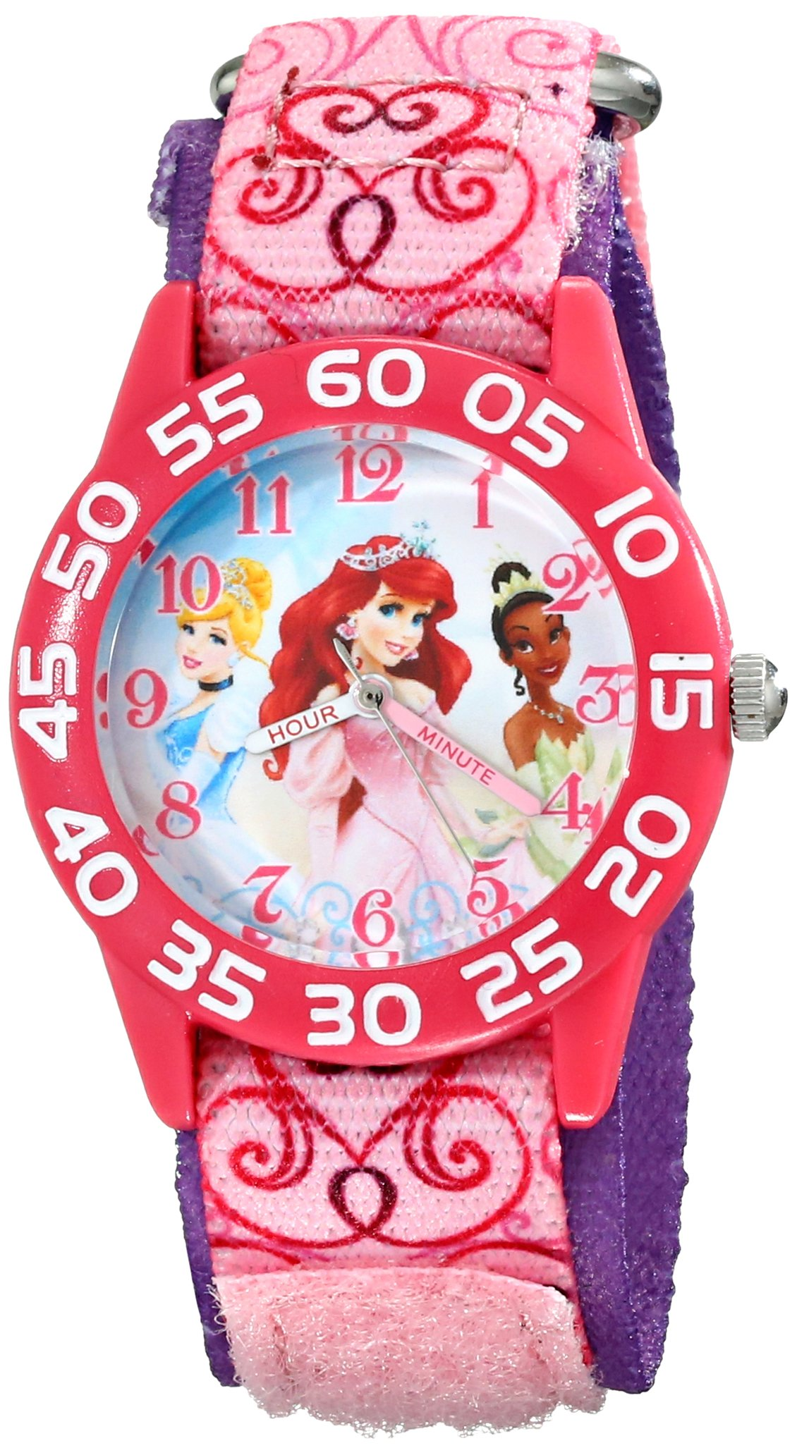 Disney Kids' W001667 Princess Analog Display Analog Quartz Pink Watch