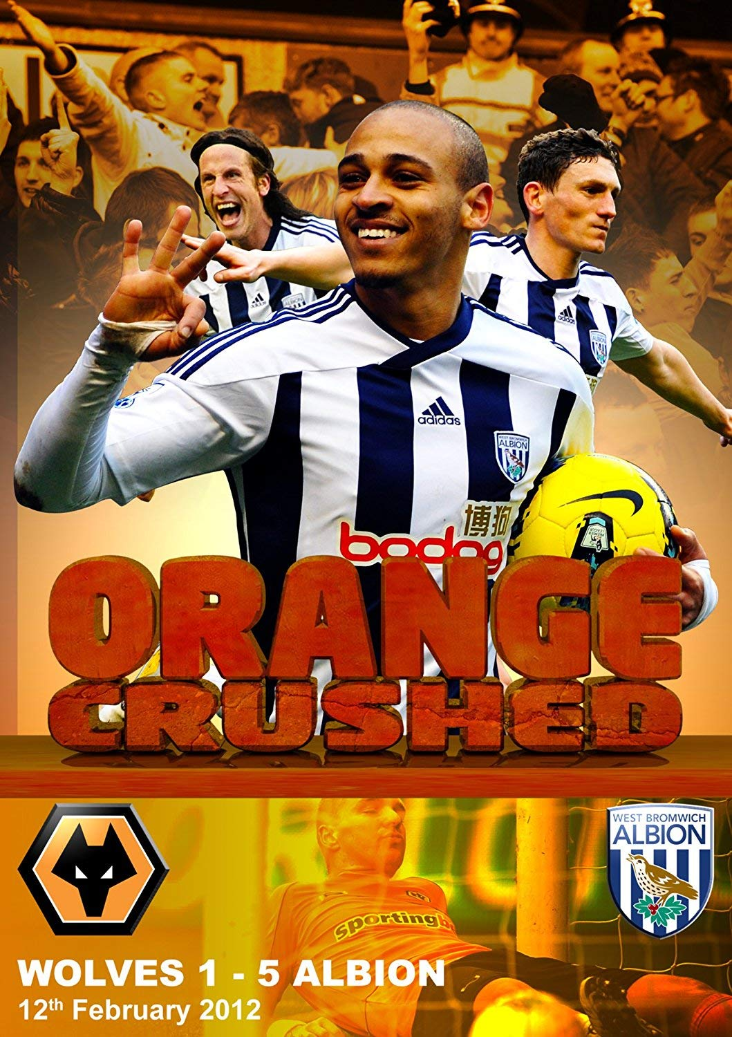 Amazon Com Wolves 1 West Bromwich Albion 5 12th February 2012 Orange Crushed Dvd Movies Tv