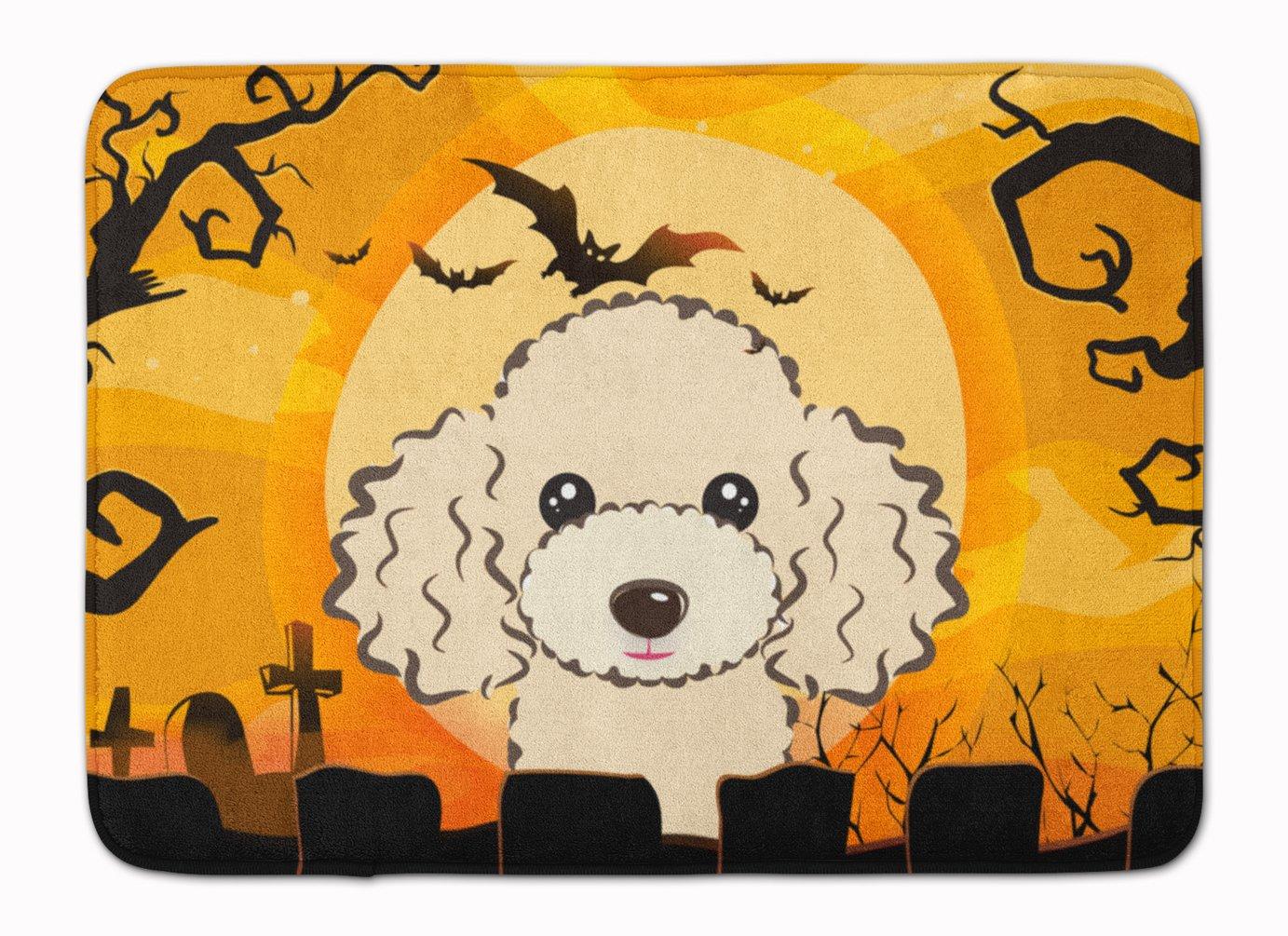 Carolines Treasures Halloween Buff Poodle Floor Mat 19 x 27 Multicolor